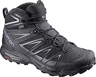 Salomon Men's X Ultra 3 MID GTX Hiking, Black/India Ink/Monument, 10.5