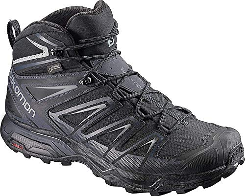 Salomon Men's X Ultra 3 Mid GTX Hiking Boots, Black/India Ink/Monument, 10