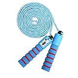 KONVINIT Cuerda para Saltar para niños Skipping Rope Ajustable ,Saltar la Cuerda Mango de Espuma para el Juego Escolar o Actividad al Aire Libre,Azul