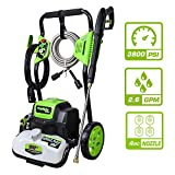 PowRyte Elite Electric Pressure Washer, Electric Power Washer with 4 Interchangeable Spray Tips, Ideal for Washing Garden, House, Farm and So On: 3800PSI 2.6 GPM