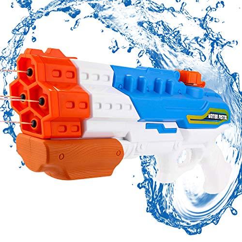 Gxhong Wasserpistole Spritzpistole,wasserpistole groß,Water Gun mit 1000ml Wassertank,Wasserpritzpistole 8-10Meter Reichweiter,SommerParty Water Blaster, Strand Sommer Pool Badespielzeug.