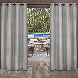 Exclusivas Cortinas para el hogar con Textura de Dos Tonos, para Interiores y Exteriores, 2 Cortinas con Ojales en la Parte Superior, Contemporáneo, Plateado, 1.37 m x 2.13 m, 1, 2