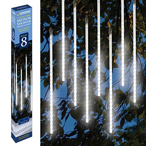 The Christmas Workshop 81960 432LED/5 V - Strisce per Doccia, 8 Pezzi, 50 cm, Colore: Bianco Brillante