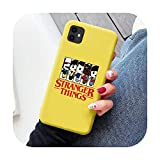 N/A Christmas Lights Stranger Things - Carcasa para iPhone X, XS, Max, XR, 11, Pro, Max 7, 6S, 8 Plus, silicona mate suave
