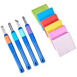 NBEADS 6Pcs Rubber Stamp Carving Block With 4Pcs Carving Chisels, Rubber Stamp Carving Kit For...