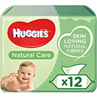 Huggies Baby Wipes made with even more skin loving natural fibres Huggies Natural Care Wet Wipes contain Aloe Vera Wet Baby Wipes are gently clean and protects baby's sensitive skin; Safe from day one Hypoallergenic water wipes with no perfume Britis...
