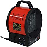 Sunnydaze Portable Ceramic Electric Space Heater - Indoor Use for Home and Office - Small Personal Heating Appliance with Auto Shut-Off Safety Feature - 1500W/750W