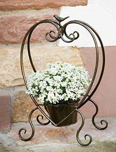 Pflanzer Herz mit herausnehmbaren Topf Dekokorb Blumentopf Pflanzgefäß Gartendeko Pflanzfigur Terrassenfigur Pflanztopf Garten Dekoherz