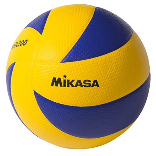 Mikasa MVA200 2008(Beijing), 2012(London), and 2016(Rio) indoor Olympic Games Ball (Blue/Yellow)