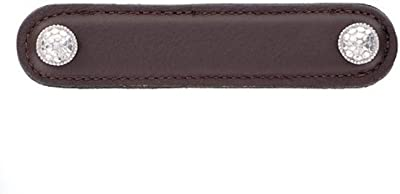 Brown 6-Inch Vicenza Designs K1162 Archimedes Leather Pull Antique Brass