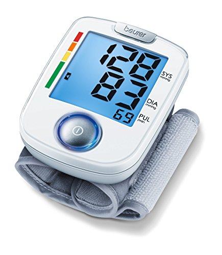 Beurer BC 44 Handgelenk-Blutdruckmessgerät, mit komfortabler Ein-Knopf-Bedienung zur einfachen, vollautomatischen Blutdruck- und Pulsmessung am Handgelenk