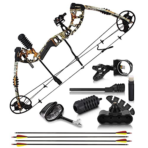 2021 Compound Bow and Arrow for Adults and Teens – Hunting Bow with Gordon Limbs Made in USA -...