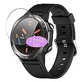 VacFun 3 Piezas Vidrio Templado Protector de Pantalla, compatible con LETSCOM/Lintelek 1.3' ID216 Smartwatch smart watch, 9H Cristal Screen Protector Protectora Reloj Inteligente NEW Version