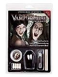Maskworld Vampir Zähne Deluxe-Set inkl. Dentalmasse / Zahn-Kleber - hochwertige Wiederverwendbare...