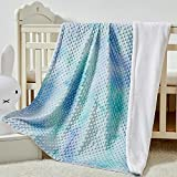 Dot Blanket for Baby and Adult Minky Double Layer Tie Dye Print Blanket with Thick Flannel Backing 40 X 60inch, Super Soft & Warm