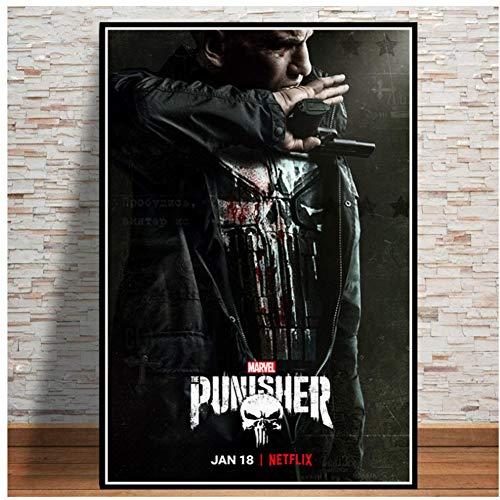 A&D The Punisher Season Series Leinwand Malerei Poster Und Drucke Wandbilder Für Wohnzimmer Dekoration Wohnkultur-60x80 cm Kein Rahmen