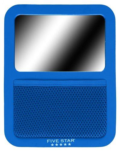 Five Star Locker Mirror with Storage Pocket, 7 x 9 Inches, Cobalt Blue (72582)