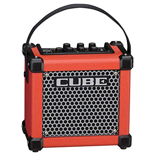 Find Discount Roland Micro Cube GX Portable 3-Watt Guitar Amplifier, red (M GXR)