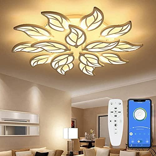 Preisvergleich Produktbild LED Deckenleuchte mit Fernbedienung APP,  Moderne Wohnzimmer Deckenlampe Deckenlicht Metall Acryl Lampenschirm Dimmbar Schlafzimmer Restaurant Kronleuchter Dimming Innenbeleuchtung
