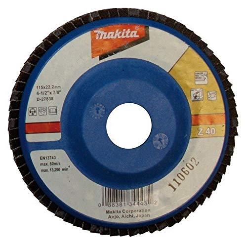 MAKITA D-27866 - Disco de laminas 115 plano de zirconio-aluminio grano 120 con cuerpo de nylon