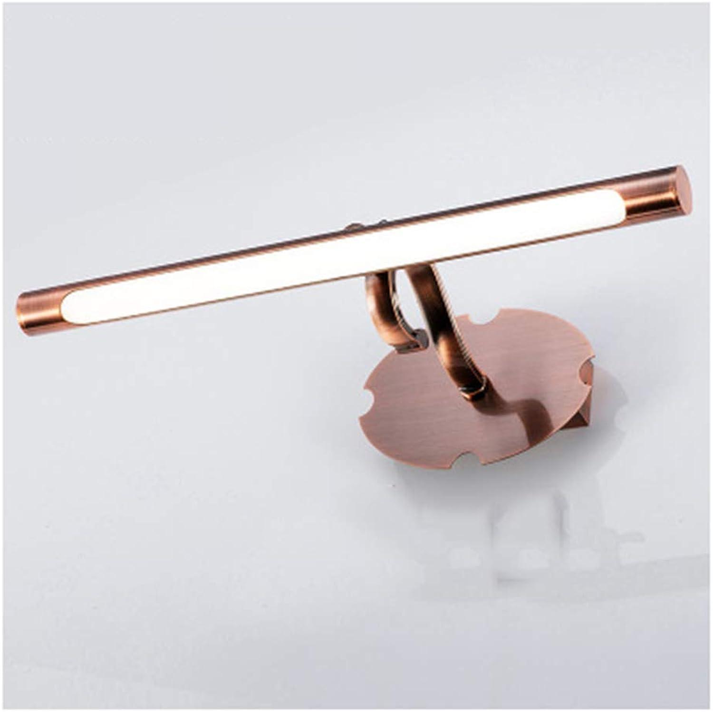 HARDY-YI Spiegelscheinwerfer rot Bronze Spiegelleuchte Badezimmer Badezimmer Studie Spiegel Scheinwerfer (Farbe   6W35.5CM, gre   Weies Licht)