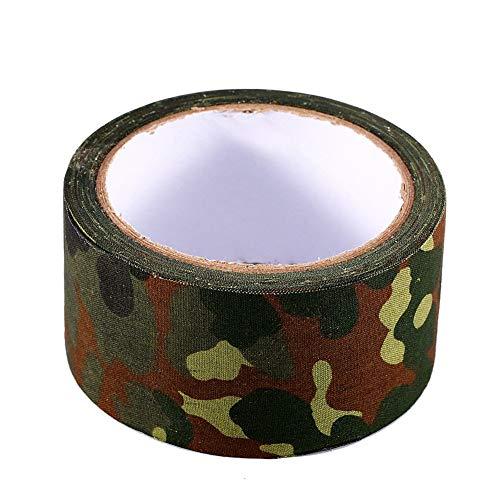 Alomejor Camouflage Tape 10m wasserdichte Bionic Klebeband Rolle von Sticky Stretch Camo Tape(German Spot Camouflage)