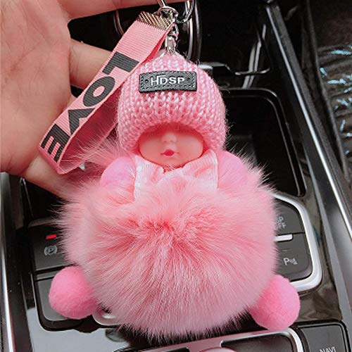 Vbtsqp 14 cm Fox Plush Sleeping Doll Juguete de Felpa Adornos para teléfonos móviles cordón muñeca muñeca Bolsa de Felpa Colgante Llavero de Coche