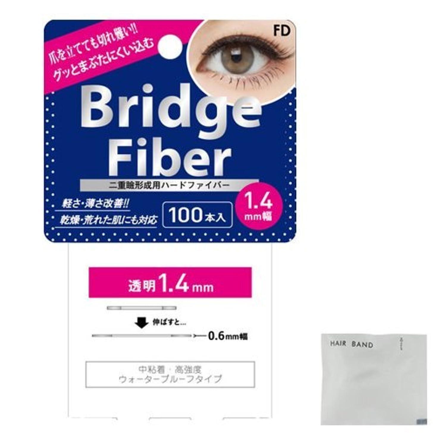耳痛みぼんやりしたFD ブリッジファイバーⅡ (Bridge Fiber) クリア1.4mm + ヘアゴム(カラーはおまかせ)セット