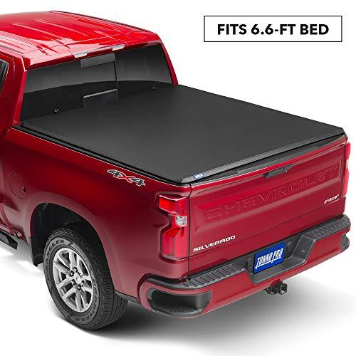 Tonno Pro Hard Fold, Hard Folding Truck Bed Tonneau Cover | HF-158 | Fits 2014-2018, 19 Ltd/Lgcy GMC Sierra & Chevrolet Silverado 1500 6'6' Bed