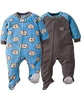 GERBER Baby Boys' 2-Pack Blanket Sleeper, Monkey, 24 Months