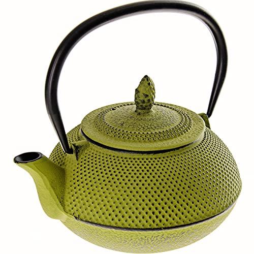Asiatische Gusseisen-Teekanne / Kaffeekanne mit Teesieb, Mayer&Boch, Japanische Teekanne für losen Tee, Hellgrün, 1L (34 OZ)