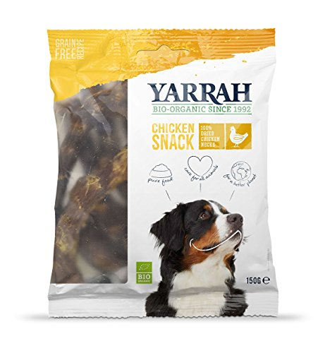 Yarrah Getrocknete Bio Hühnerhälse, 5er Pack (5 x 150 g)