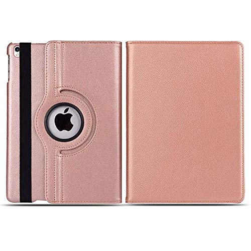 Case for iPad 9.7-inch (2018/2017 6th / 5th Generation) 360 Leather Wallet Flip Smart Folio Cover for iPad Air, iPad Air2, iPad Pro 9.7'' (Rosegold)