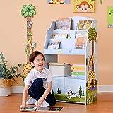 Fantasy Fields Sunny Safari Kids 3-stufiges Bücherregal aus Holz und Aufbewahrung Multi TD-13394SS