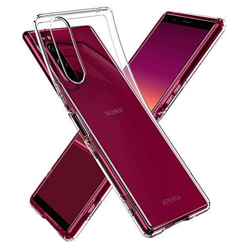 Spigen Liquid Crystal Kompatibel mit Sony Xperia 5 Hülle ACS00370 Transparent TPU Silikon Handyhülle Kratzfest Durchsichtige Schutzhülle Flex Hülle Crystal Clear