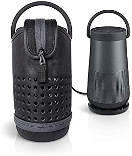 Protetive Case for Bose SoundLink Revolve+ Bluetooth Speaker by WGear,with Customized Compartment Also for Charging Cradle...