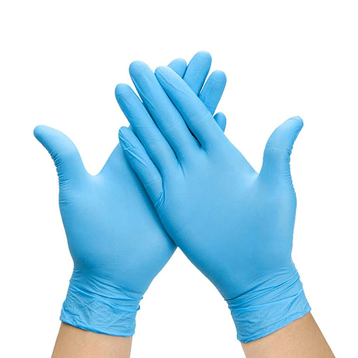 石まだら可決Besline 使い捨て手袋 ゴム手袋滑り止め表面肥厚使い捨て手袋食品グレード手袋、ラテックスゴムフリー、100個