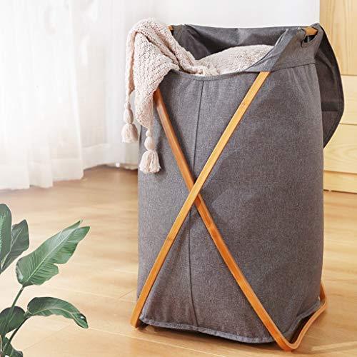 YCL-panier à linge Panier de rangement pour vêtements sales de grande capacité Panier de rangement pour les déchets ménagers pliable (Color : Gray)