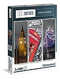 Clementoni - Puzzle Trittico 3 x 500 Piezas Londres (39306)