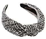Tweed Knotted Headbands for Women Go with Everything. Welmade Black Top Knot headband for women Fashion is Adjustable . Comfy Black Knotted Headband is Cute. Ladies headbands Get Many Compliments