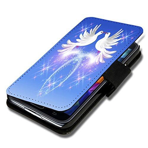 wicostar Book Style Flip Handy Tasche Hülle Schutz Hülle Schale Motiv Foto Etui für LG Bello 2 / Bello II - Flip X17 Design10