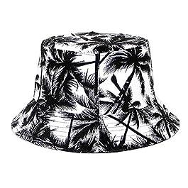 Tuopuda Chapeau de pêcheur D'été Bob Homme Chapeau de Seau Bucket Hat Été Cotton Bord Court Anti-UV Protection Casquette…