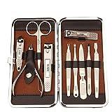 NNNQO - Juego de herramientas personales de manicura y pedicura, juego de manicura, kit de cuidado de uñas, tijeras de manicura, kit de cuidado de uñas, incluye recorte de cejas, uñas, lima de uñas