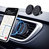 Eono by Amazon-Support Telephone Voiture Magnetique 【Paquet de 2】 Porte Telephone Voiture à 6 aimants, Fixable aux Grilles de...