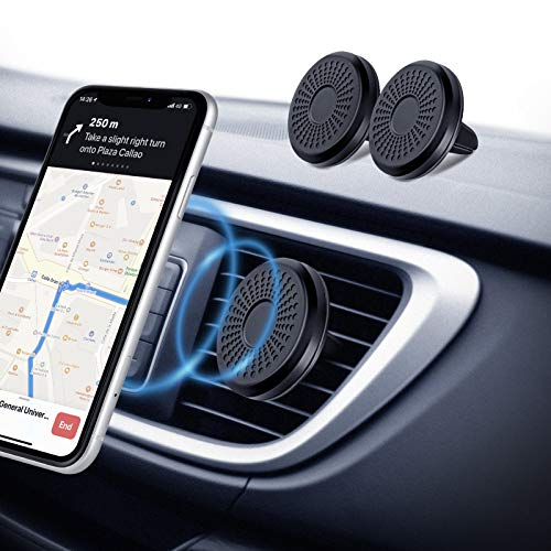 Eono by Amazon - Porta Cellulare da Auto Magnetico, (2 Pezzi) Calamita per Cellulare auto, Sistema a 6 N50 Magneti, Porta Telefono Auto per iPhone, Samsung, Huawei e GPS