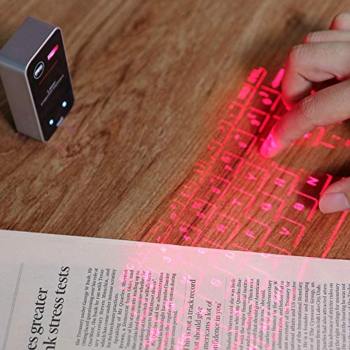 Tickasスマートフォン/PC/タブレット用のミニポータブルバーチャルタッチキーボード&マウスマウスBTQWERTYプロジェクション