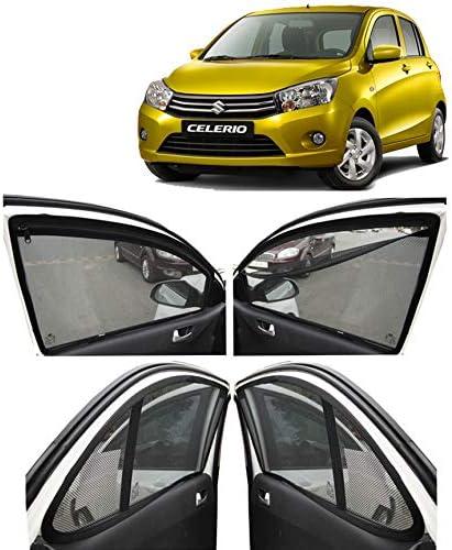 Autofact Car Accessories Zipper Magnetic Sunshades Compatible for Maruti Celerio