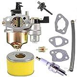 Carburetor for Honda GX160 Spark Plug Air Filter for Honda GX120 GX140 GX160 GX168 GX200 EG1400 EZ1400XK1 EG2200X EG2500XK1 EZ2500 Small Engines