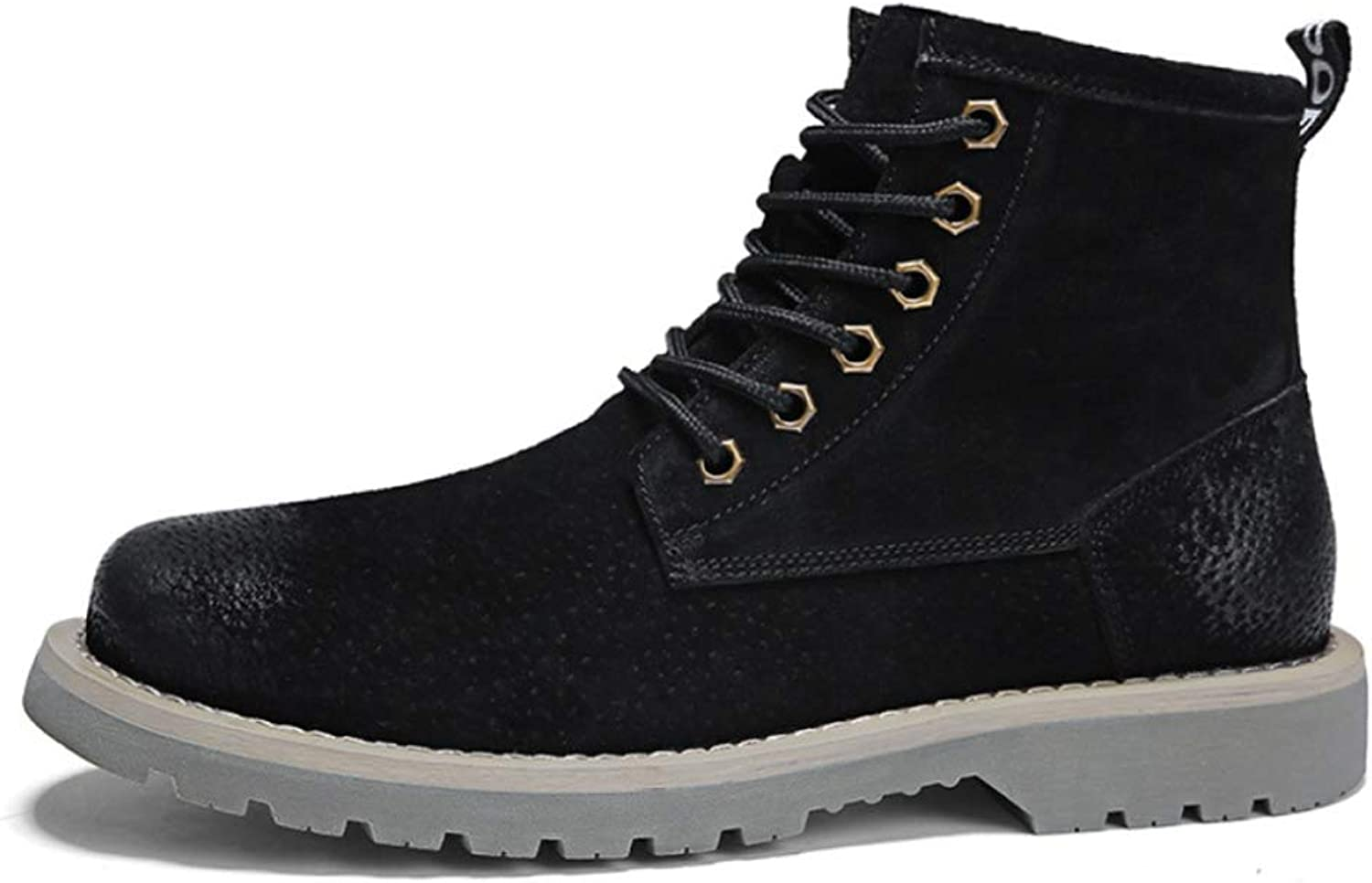 Men'S Martin Boots Winter Warm Ankle Boots Fully Fur Lined Anti Slip Boots Leather Waterproof Work Hiker Boots