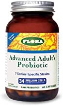 Flora Advanced Adult Probiotic Capsules 60 Count - 34 Billion CFU - Vegetarian, Gluten Free - for Adults Age 55+ (Udo's Choice)